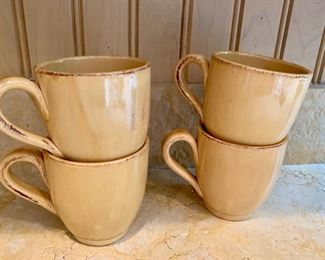 """$24 Pier 1 """"Toscana Gold"""" coffee mugs.  Four available"""