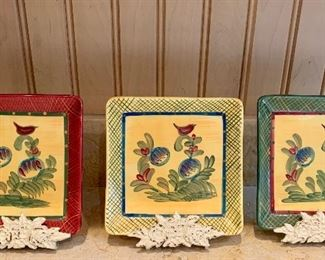 $45 Set of three plates and plate holders