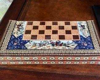 """$195 Backgammon and chess board (Open 15.75"""" square)"""