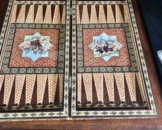 Open view of backgammon board
