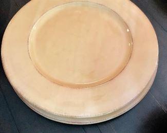 "$20 Pier 1 ""Toscana Gold"" pattern. Two serving platters. 13.75""D"