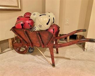 """$200 Maitland-Smith decorative  wheelbarrow ; 17.5""""H x 18""""D x 43""""L"""