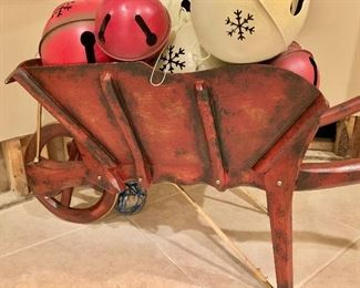 Detail:  Maitland-Smith decorative Wheelbarrow
