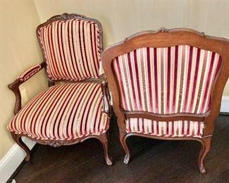 Detail: Louis Solomon armchairs