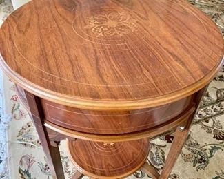 Detail; Top view of inlay end table