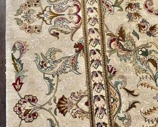 Detail:  Hand knotted rug