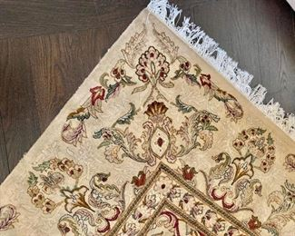 Detail:  Hand knotted Kashan rug