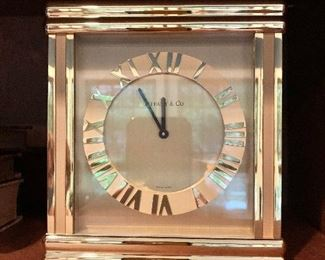 "$125 Tiffany clock 6.25""H - Front"