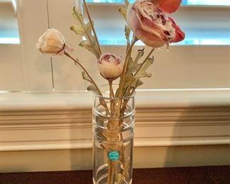 "$40 Tiffany crystal bud vase 8""H"