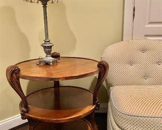 """$195 Triple shelf side table 29""""H x 28""""D"""