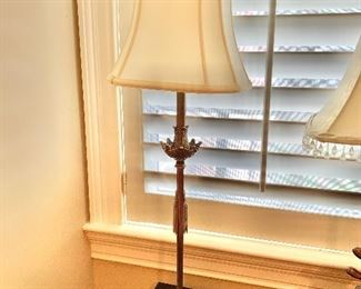 """$75 Table lamp with shade; 32""""H"""