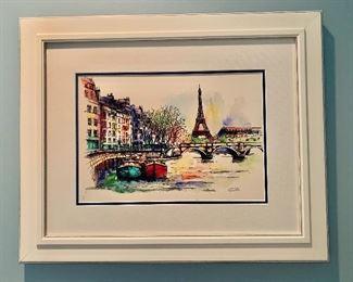 """$40 Paris art 21.5""""H x 26.5""""W"""