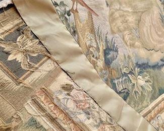 Detail: Reverse of hanging tapestry.
