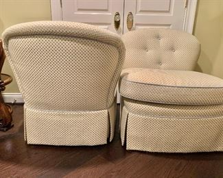 """Detail:  Hickory White armless swivel chairs; 33""""H x 37""""D x 31""""W"""
