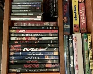 $20 Lot of DVD and tapes.