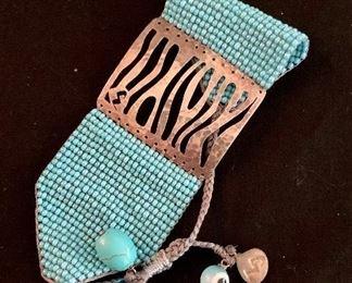 $45 Contemporary beaded bracelet by Mishki.