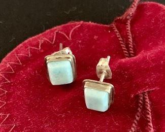 $40 Sterling Silver rectangular post earrings.