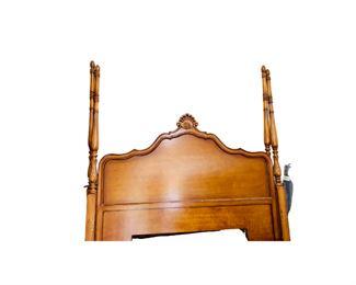 $795 Century King  4 poster Bed (Headboard, Footboard, rails)