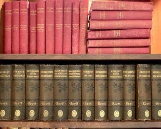 """$150 """"The Works of Sir Walter Scott"""" 12 volume set.  John B Alden Publisher.  (lower shelf)"""