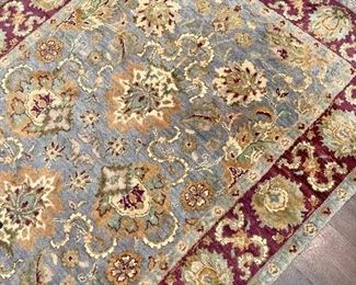 $325. Hand woven rug.  Approx 3 x 5.