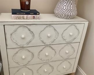 pair of matching 3 drawer chests or night stands