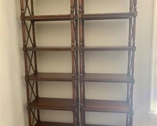 """the other Drexel Heritage bookshelves. Each section is 76"""" tall x 22"""" wide x 11"""" deep"""