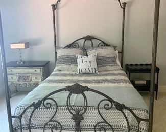 queen size bed available  (mattress:box spring and linens are priced separately and SOLD)