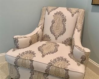 Upholstered chair by Candice Olson
