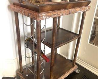 Tea cart/wine rack