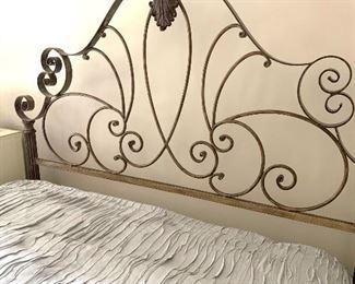 Queen size metal bed