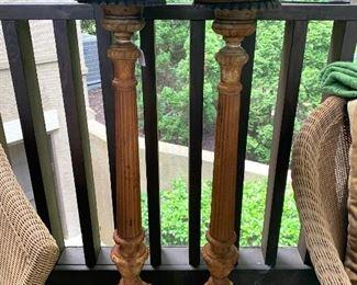 Cast iron candlesticks