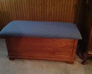 Chest with upholstered top
