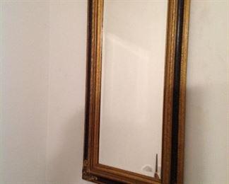 Beveled edge framed mirror