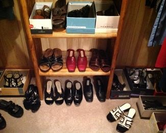 Just some of the many pairs of shoes