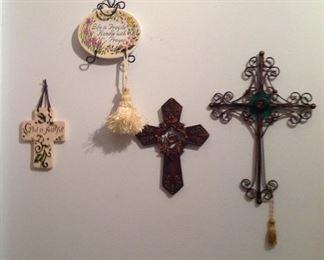 Crosses and tassels