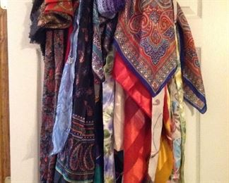 Lots of scarves