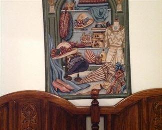 Tapestry, king size headboard