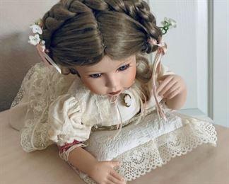 Porcelain Doll Signed & Numbered $40