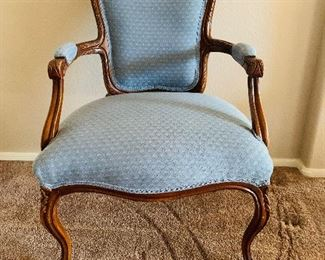 Victorian style antique wood carved chair $150