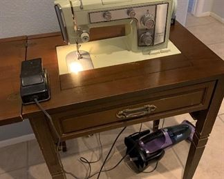 Vintage Kenmore Sear sewing machine & table- wonderful working condition! All accessories are included $150