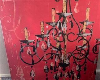 Oil on canvas Villeneure $65