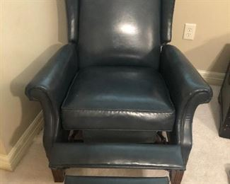 Leather Wingback Reclining Chair