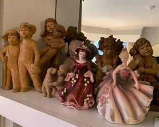 Many statues