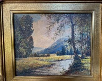 "Boris Major (Russian 1876-1951)                                                          frame size   20""h x 22""w                                                                            250.00"