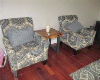 Like New Pair Fabric Arm Chairs