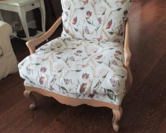Pair Kriss Fabric Arm Chairs So Comfortable