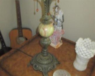 Marble & Metal Antique Lamp