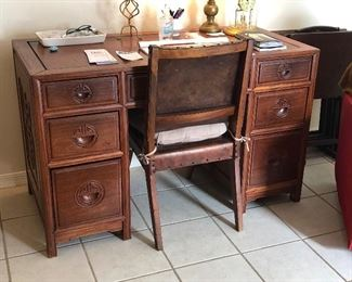 Guys this is a very solid wood desk & chair...beautiful
