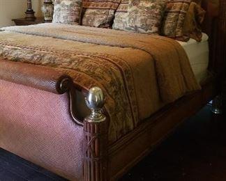 Thomasville Ernest Hemingway Kilimanjaro collection king headboard, foot board, sides      Price of bed $1800  Mattress set $500