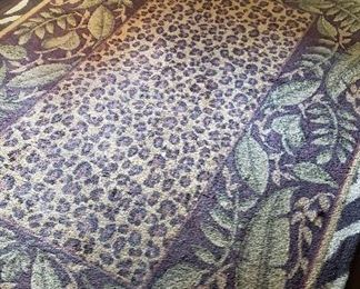 Animal print /  palm rug